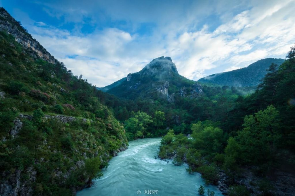point de vue depuis le pont de Tusset